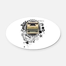 writer3.png Oval Car Magnet