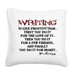 writing-08.png Square Canvas Pillow