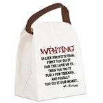 writing-08.png Canvas Lunch Bag