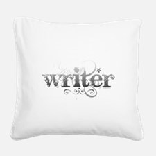 writer.png Square Canvas Pillow