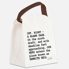 rewrite-hell1.png Canvas Lunch Bag