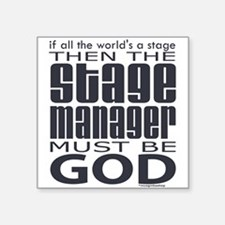 """stage-manager.png Square Sticker 3"""" x 3"""""""