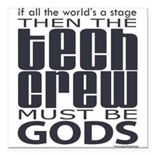 "tech-crew.png Square Car Magnet 3"" x 3"""