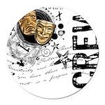 crew1-theatre.png Round Car Magnet