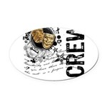crew1-theatre.png Oval Car Magnet