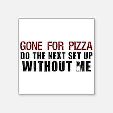 """Pizza Square Sticker 3"""" x 3"""""""