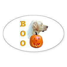 Halloween Yellow Lab Boo Oval Decal