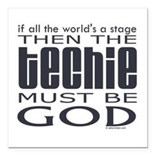 """techie2.png Square Car Magnet 3"""" x 3"""""""