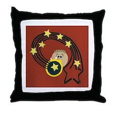 Trumpet Boy Throw Pillow