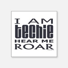"""3-techie3.png Square Sticker 3"""" x 3"""""""