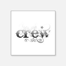 "crew.png Square Sticker 3"" x 3"""