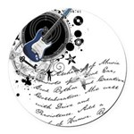 musician2.png Round Car Magnet