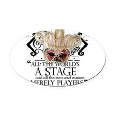 as you like it 2.png Oval Car Magnet