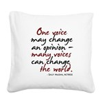 opinion2.png Square Canvas Pillow
