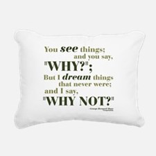 3-georgebernardshaw3.png Rectangular Canvas Pillow