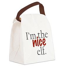 niceelf.png Canvas Lunch Bag