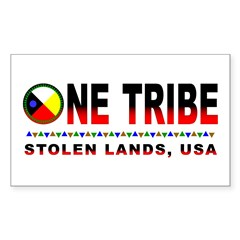 One Tribe Rectangle Decal