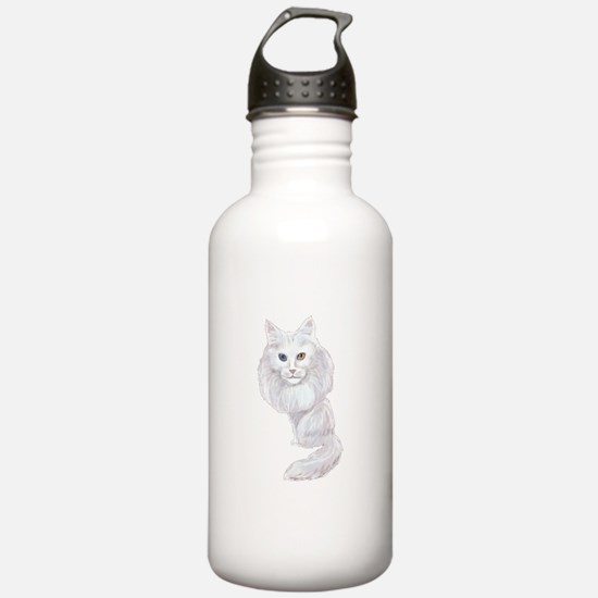 Turkish Angora Caricature Sports Water Bottle