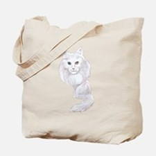 Turkish Angora Caricature Tote Bag