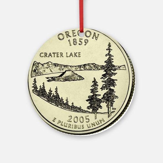 Oregon Quarter 2005 Basic Round Ornament