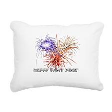 happynewyear-black.png Rectangular Canvas Pillow