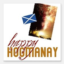 "hogmanay-fireworks.png Square Car Magnet 3"" x 3"""