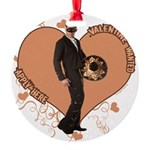 3-valentine-wanted-male.png Round Ornament