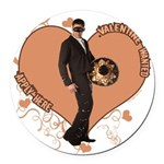 3-valentine-wanted-male.png Round Car Magnet
