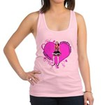 valentine-wanted-female-pink.png Racerback Tank To