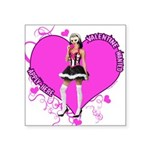 valentine-wanted-female-pink.png Square Sticker 3
