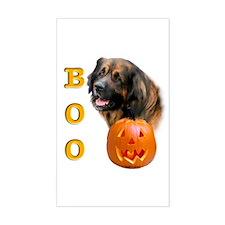 Halloween Leonberger Boo Rectangle Decal