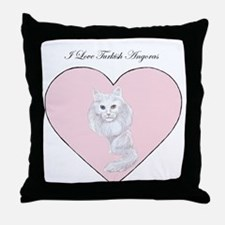 I Love Turkish Angoras Throw Pillow
