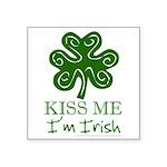 kiss-me-irish1-dark.png Square Sticker 3