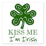 kiss-me-irish1-dark.png Square Car Magnet 3