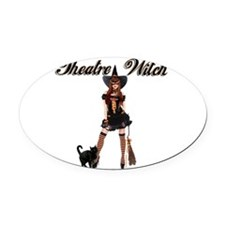 Theatre Witch Oval Car Magnet