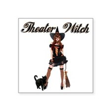 """Theater Witch Square Sticker 3"""" x 3"""""""