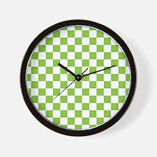 2-Tone Check Wall Clock