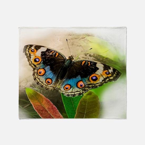 Pretty Little Butterfly Throw Blanket
