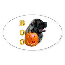 Halloween Mastiff Boo #4 Oval Decal