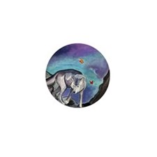 Tarot Wolf & Fairies Moon Card Mini Button