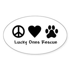 Peace Love & Paw Decal