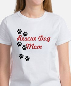 Rescue Dog Mom Women's T-Shirt (Both Sides)