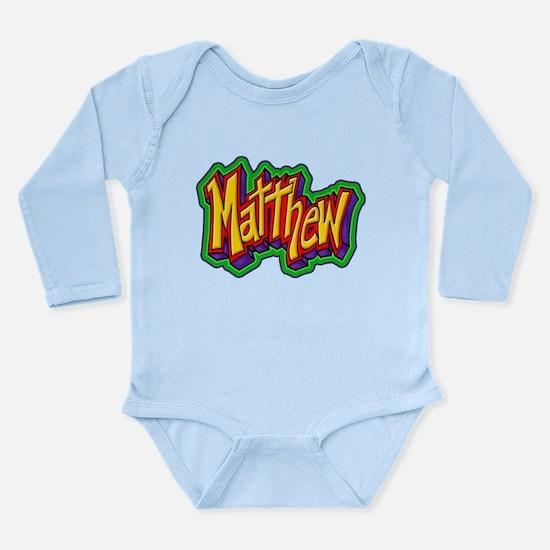 Matthew Personalized Long Sleeve Infant Bodysuit