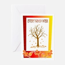 ALl the leaves are falling Greeting Cards (Pk of 2