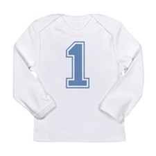 Blue #1 Long Sleeve T-Shirt