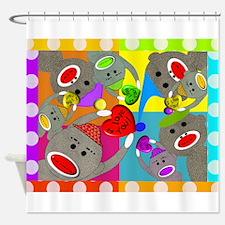 sock monkey blanket 4 MULTI COLOR.JPG Shower Curta