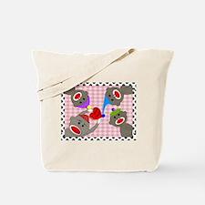 sock monkey blanket 1.JPG Tote Bag