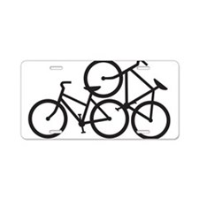 Bike Love Aluminum License Plate