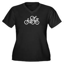 Bike Love Women's Plus Size V-Neck Dark T-Shirt