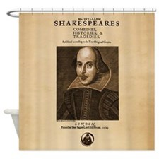 Shakespeare First Folio Shower Curtain